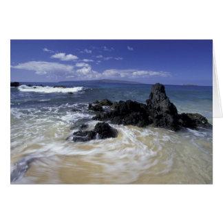 USA, Hawaii, Maui, Maui, Makena Beach, Surf on Greeting Card