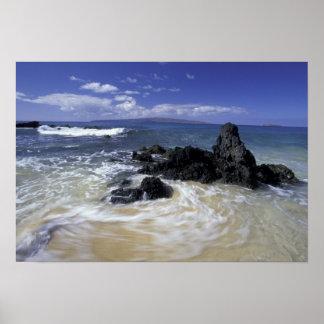 USA, Hawaii, Maui, Maui, Makena Beach, Surf on Poster
