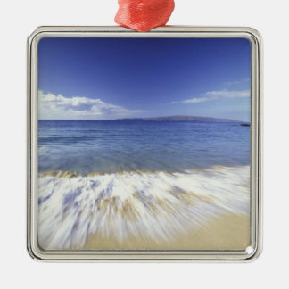 USA, Hawaii, Maui, Surf coming in to Makena Christmas Ornament