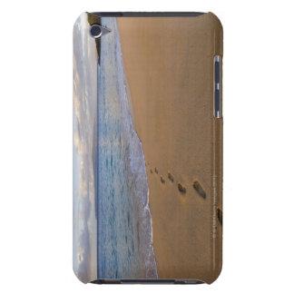 USA, Hawaii, Maui, Wailea, footprints on beach 2 iPod Case-Mate Case