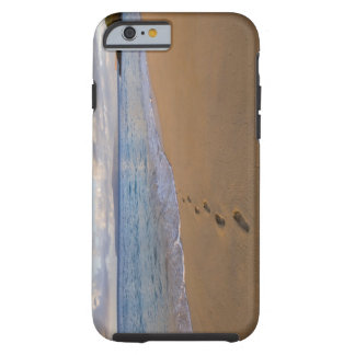 USA, Hawaii, Maui, Wailea, footprints on beach 2 Tough iPhone 6 Case