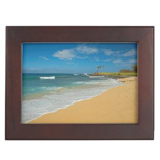 USA, Hawaii, Molokai Island, Three Mile Beach Keepsake Box