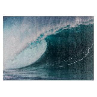 USA, Hawaii, Oahu, Large waves Cutting Board