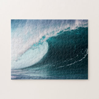 USA, Hawaii, Oahu, Large waves Jigsaw Puzzle