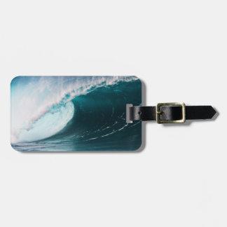 USA, Hawaii, Oahu, Large waves Luggage Tag