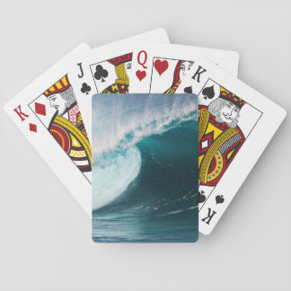 USA, Hawaii, Oahu, Large waves Playing Cards