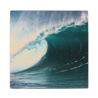 USA, Hawaii, Oahu, Large waves Wood Coaster