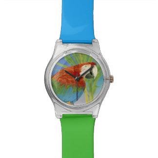USA, Hawaii. Parrot Wrist Watch