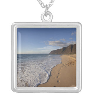 USA, Hawaii, Polihale Beach State Park. Beach Silver Plated Necklace