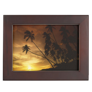 USA, Hawaii. Sunset on Molokai. Keepsake Box