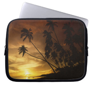 USA, Hawaii. Sunset on Molokai. Laptop Sleeve