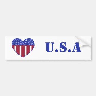 USA Heart Flag Bumper Sticker Car Bumper Sticker