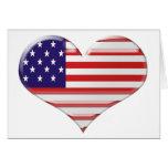 USA Heart Flag Design Cards