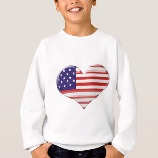 USA Heart Flag Design Sweatshirt