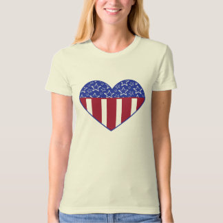 USA Heart Flag Organic T-Shirt