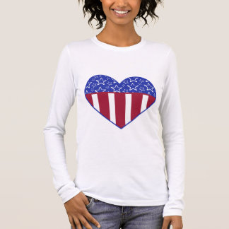 USA Heart Flag Patriotic T-Shirt