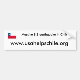 USA helps Chile Bumper Sticker