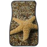 USA, HI, Kauai, Glass Beach with Star fish Car Mat