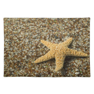 USA, HI, Kauai, Glass Beach with Star fish Placemat