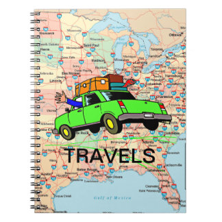 USA Highway Map Travel Planner Note Book