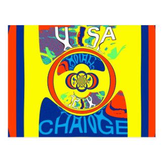 USA Hillary Beautiful Change Pattern Art design Postcard