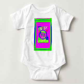 USA Hillary Change Monogram  Art design Baby Bodysuit