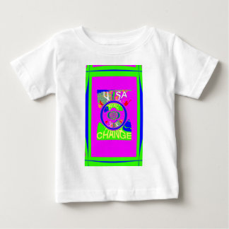 USA Hillary Change Monogram  Art design T-shirt