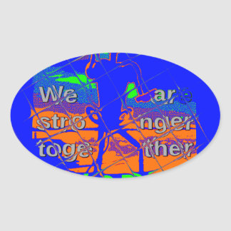 USA Hillary Hope We Are Stronger Oval Sticker
