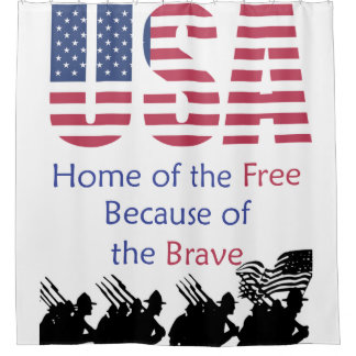 USA - Home of the Free Because of the Brave Shower Curtain