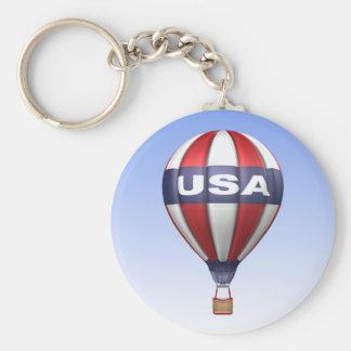 USA Hot Air Balloon Keychain