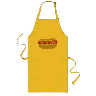 USA-Hotdog 4th of July Long Apron