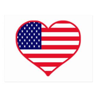 USA I Love America Postcard