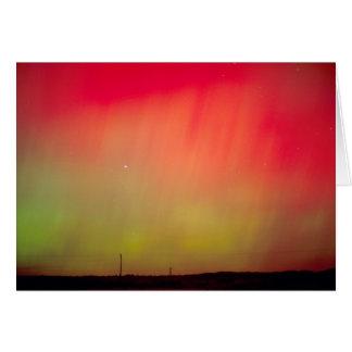 USA, Idaho. Aurora borealis, northern lights at 2 Card