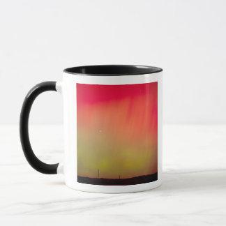 USA, Idaho. Aurora borealis, northern lights at 2 Mug