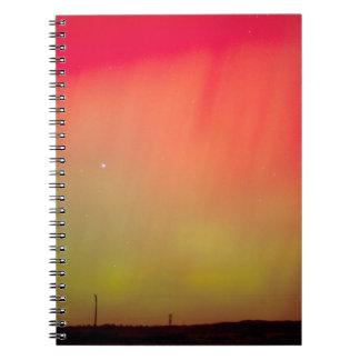 USA, Idaho. Aurora borealis, northern lights at 2 Spiral Notebook