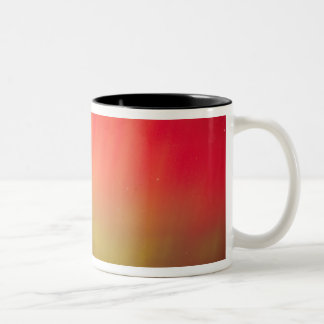 USA, Idaho. Aurora borealis, northern lights at 2 Two-Tone Coffee Mug