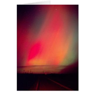 USA, Idaho. Aurora borealis, northern lights at Card