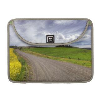 USA, Idaho, Idaho County, Canola Field Sleeve For MacBook Pro