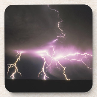 USA, Idaho. Lightning. Beverage Coaster
