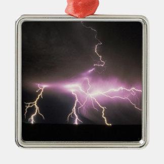 USA, Idaho. Lightning. Christmas Ornament