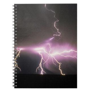 USA, Idaho. Lightning. Notebooks