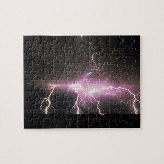 USA, Idaho. Lightning. Puzzles