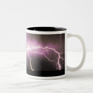USA, Idaho. Lightning. Two-Tone Coffee Mug