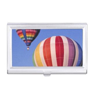 USA, Idaho, Teton Valley. Colorful hot-air Business Card Holder
