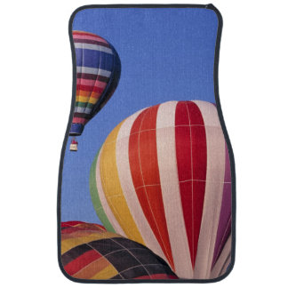 USA, Idaho, Teton Valley. Colorful hot-air Car Mat