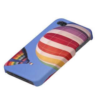 USA, Idaho, Teton Valley. Colorful hot-air Cases For iPhone 4