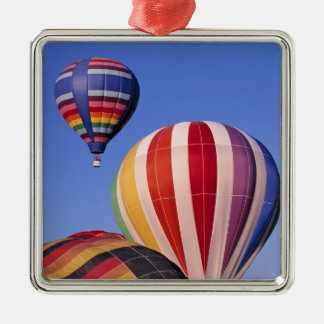 USA, Idaho, Teton Valley. Colorful hot-air Christmas Ornament