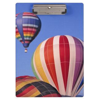 USA, Idaho, Teton Valley. Colorful hot-air Clipboard