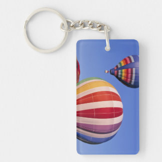 USA, Idaho, Teton Valley. Colorful hot-air Double-Sided Rectangular Acrylic Key Ring