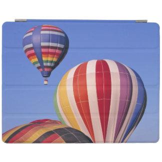 USA, Idaho, Teton Valley. Colorful hot-air iPad Cover
